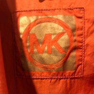 Michael Kors Orange Light Zip Up Jacket